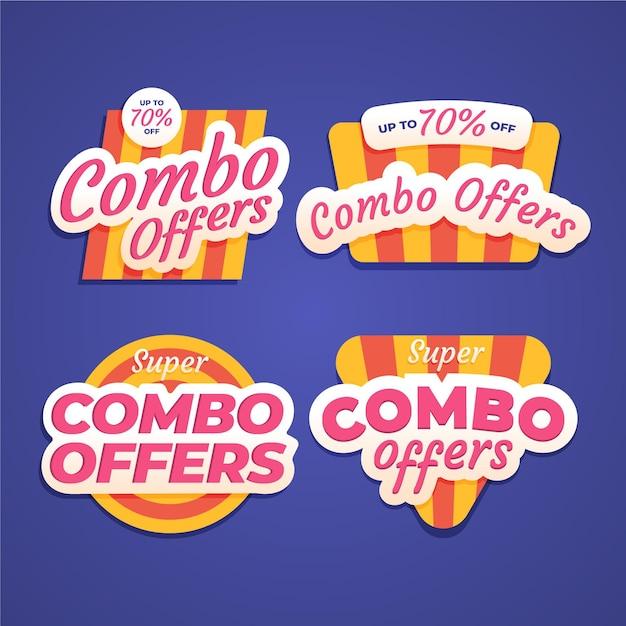 Комбо предлагает этикетки Бесплатные векторы