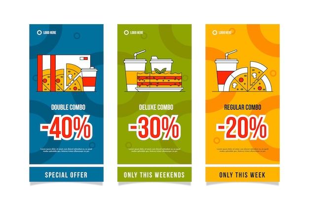 Combo offers vertical banners Premium Vector