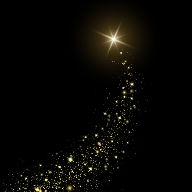 Comet on space background Premium Vector