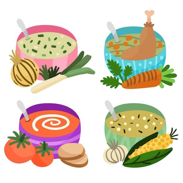 Концепция комфорта еды Бесплатные векторы