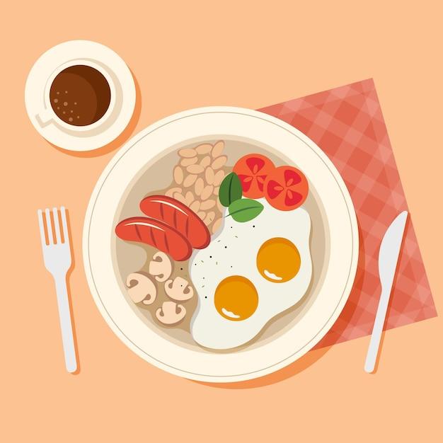 Comfort food concept Free Vector