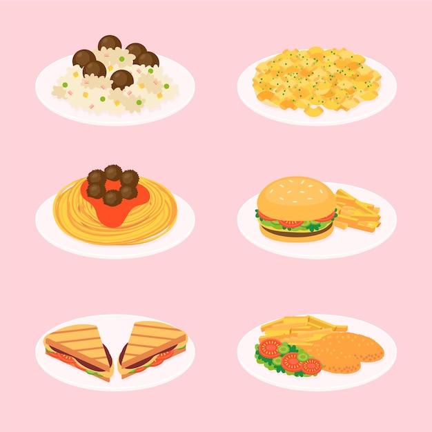 Иллюстрация еды комфорта Premium векторы