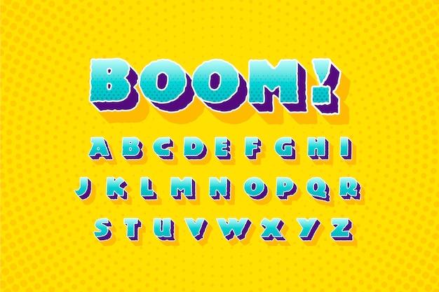 Z 디자인에서 만화 3d 알파벳 무료 벡터