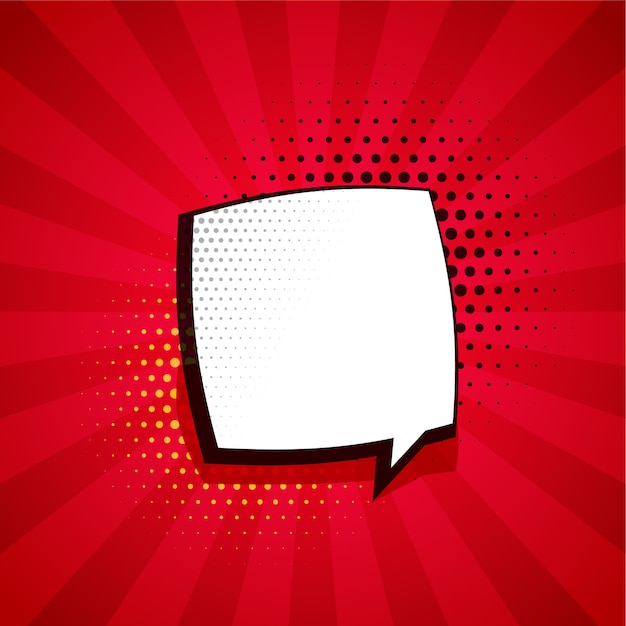 Комический фон с пузырем чата и пространством для текста Бесплатные векторы