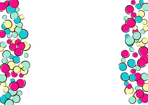 Комический фон с поп-арт в горошек конфетти. Premium векторы