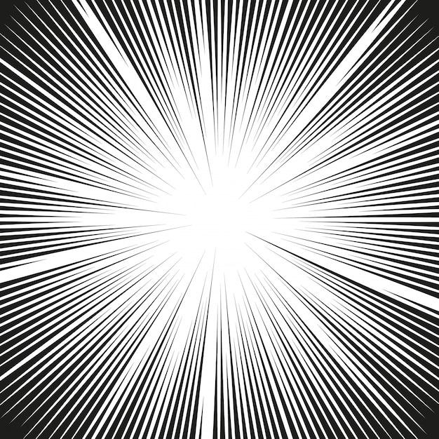 Линии комиксов действий. скоростные линии mangframe Premium векторы