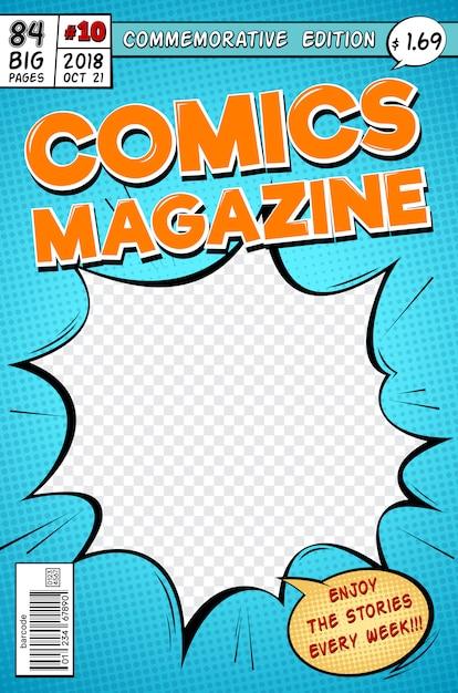 Comic Book Cover Template from image.freepik.com