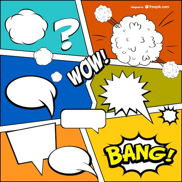 Comic Book Onomatopoeia Vector  Free Download