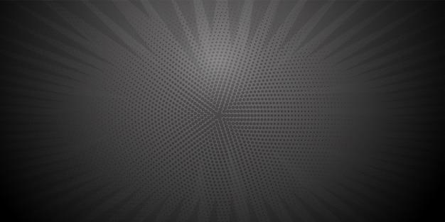 Comic book pop art strip radial backdrop Premium Vector