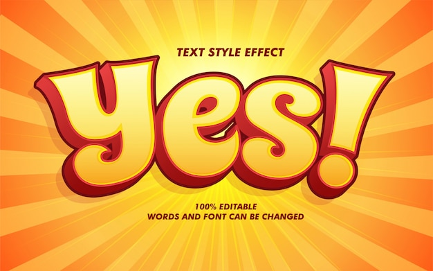 Comic cartoon bold text style effect Premium Vector