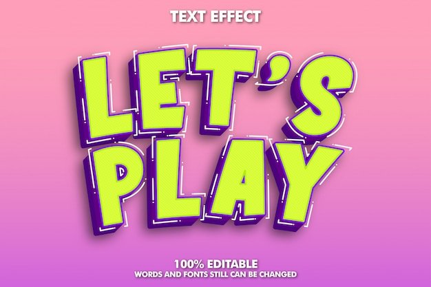 Comic cartoon text effect Free Vector