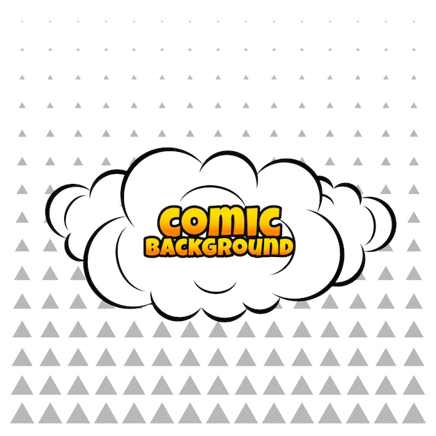Comic cloud or smoke background Free Vector