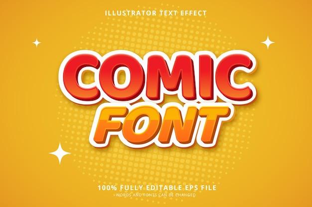 만화 글꼴 텍스트 효과 무료 벡터