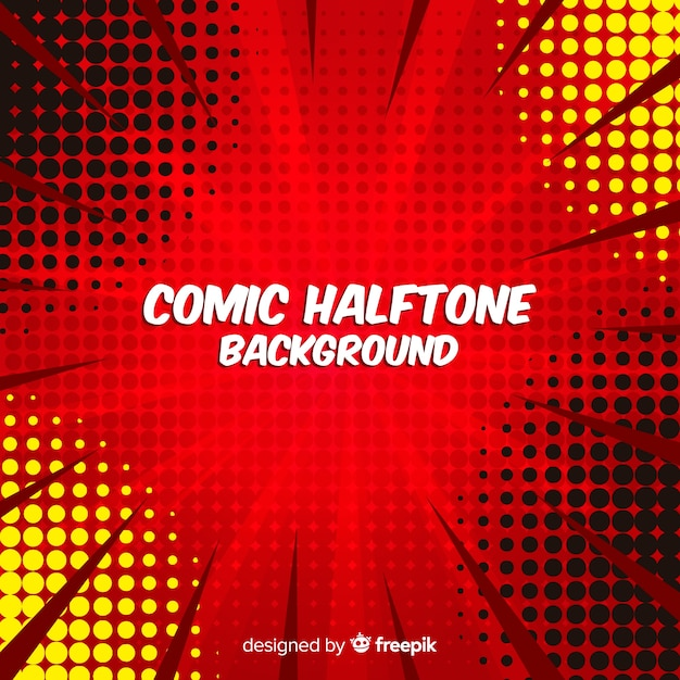 Comic Halftone Background Vector Free Download