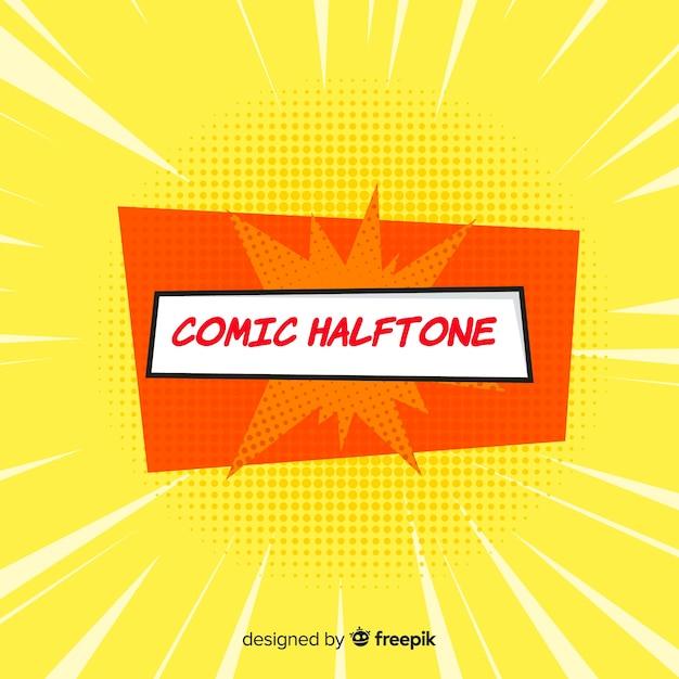 Comic halftone background Free Vector