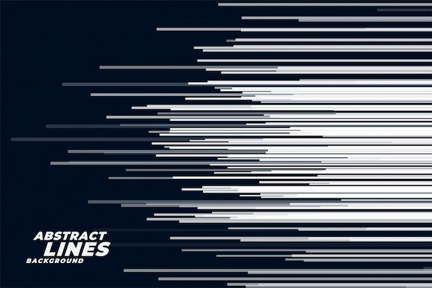 Comic horizontal speed lines background Free Vector