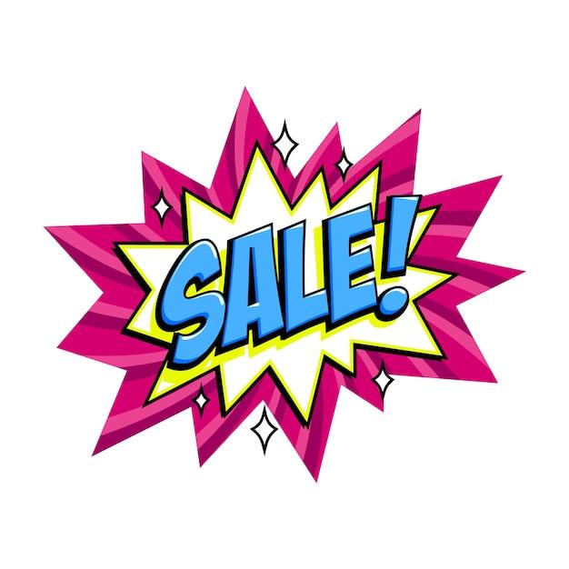 Comic pink sale bang balloon Premium Vector