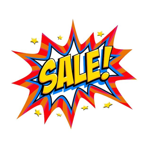 Comic red sale bang balloon Premium Vector