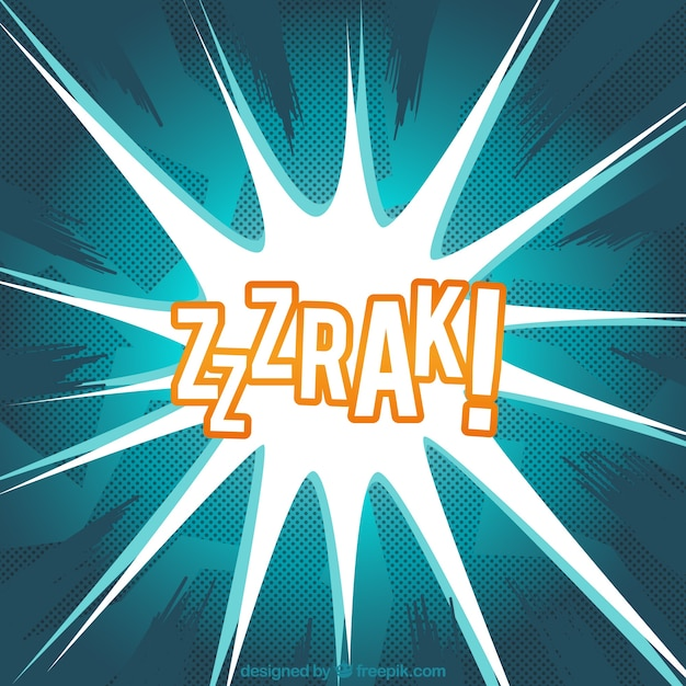 comic sound effect background free vector