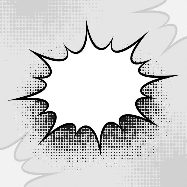 Comic speech bubble design Premium Vector