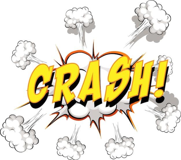Fumetto comico con testo di crash Vettore gratuito