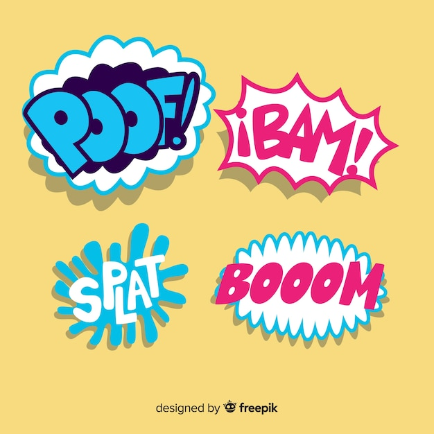 Comic speech bubbles background Free Vector