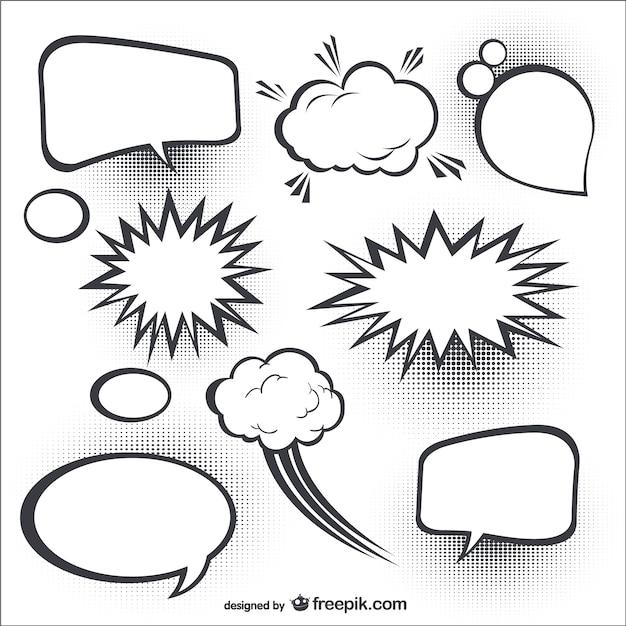 Comic speech bubbles Vector   Free Download