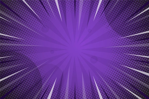 Comic style background dark violet colored Free Vector