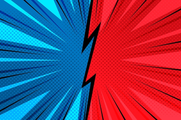 Comic style background Free Vector