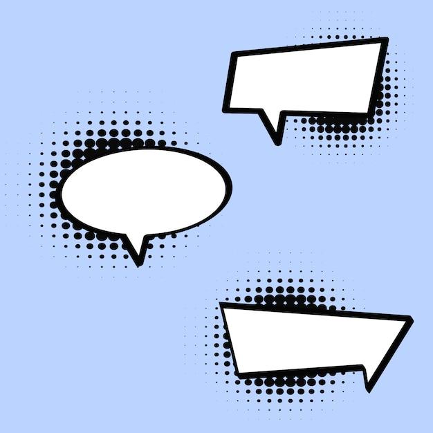 Comic style speech bubble in vector Premium Vector