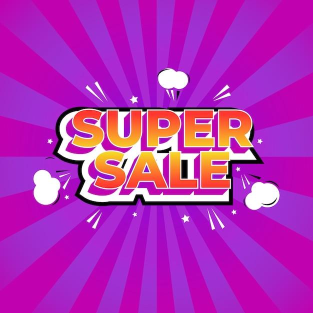 Comic text style sale templates Premium Vector