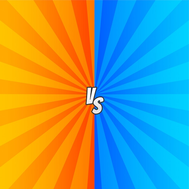 Comic versus with zoom rays Free Vector