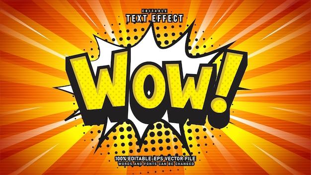 Эффект comic wow text Premium векторы