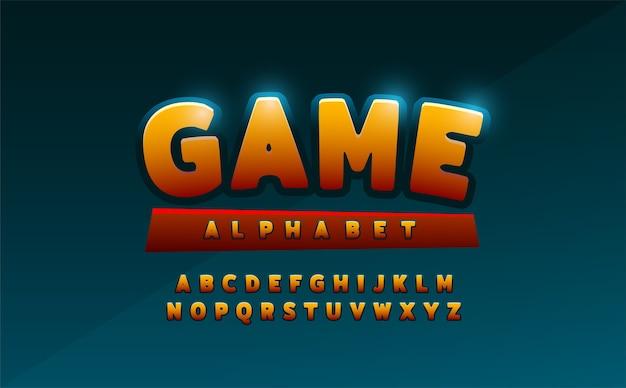 Comics alphabet font. typography comic logo designs Premium Vector