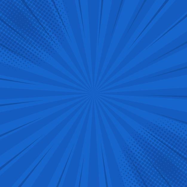 Comics blue retro background with halftone corners. summer backdrop.  in retro pop art style for comics book, poster, advertising design Premium Vector