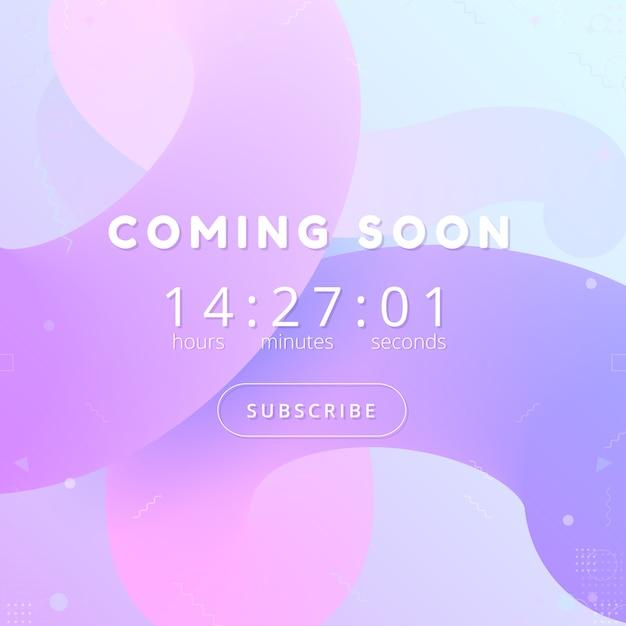 Coming soon background. countdown website template. Premium Vector