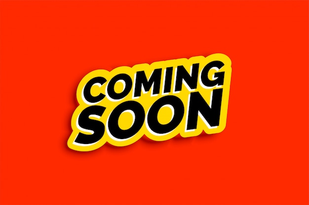 Coming soon background in flat color style Free Vector