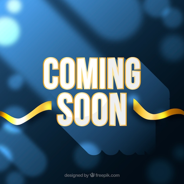 Coming soon background with typography Premium Vector