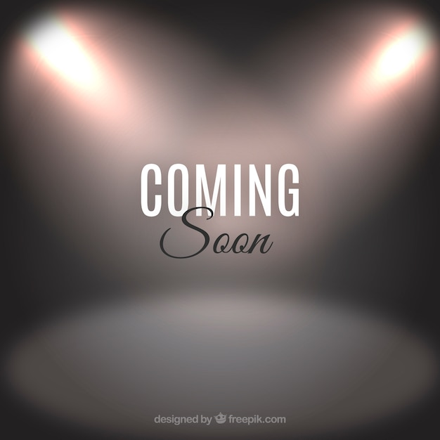 Coming soon background with typography Free Vector
