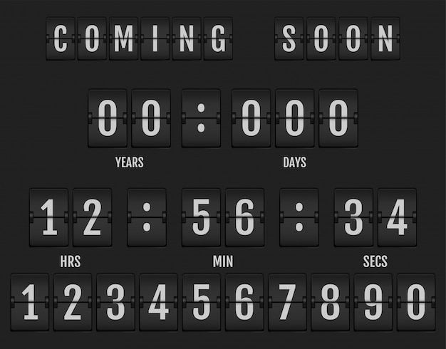 Coming soon banner showing how much time is left Premium Vector