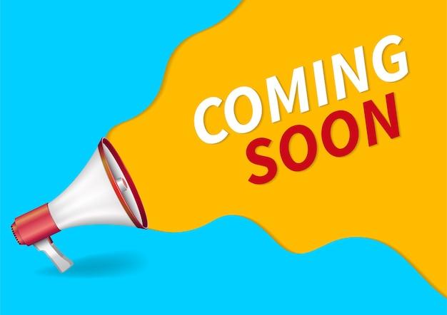 Coming soon banner Premium Vector