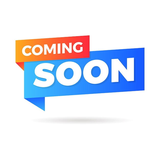 The coming soon banner Premium Vector