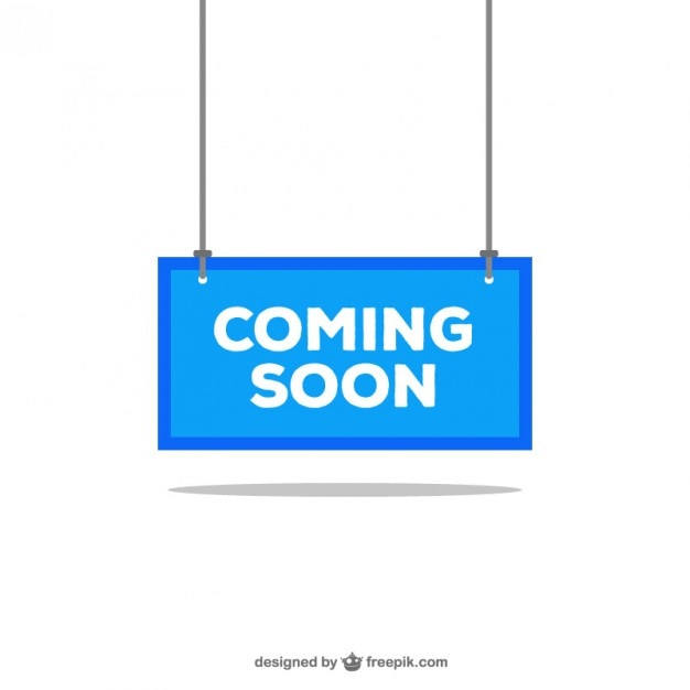 Coming soon blue sign Free Vector