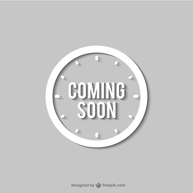 coming soon clock sign vector free download