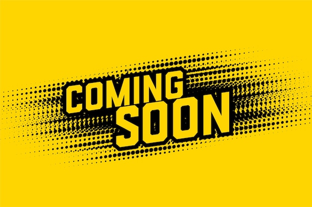 Coming soon halftone style design background template Free Vector