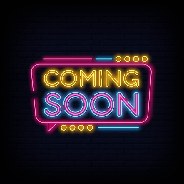 Coming soon neon sign | Premium Vector