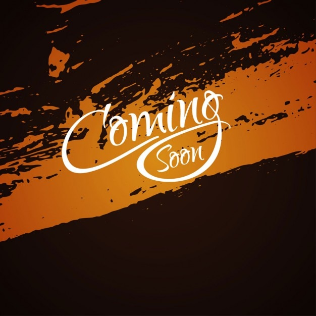 Coming soon, on a grunge background Free Vector