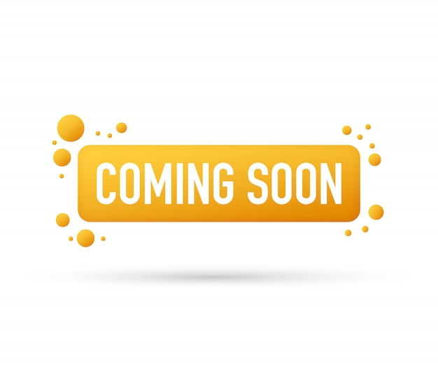 Coming soon. promotion banner coming soon. Premium Vector