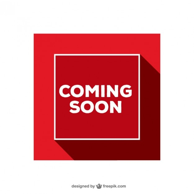 Coming Soon red sign Free Vector