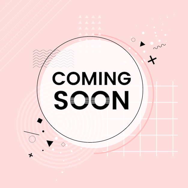 Coming soon shop announcement vector Free Vector